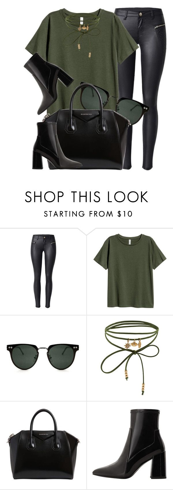 """Green & Black"" by smartbuyglasses-uk ❤ liked on Polyvore featuring Accessorize, Givenchy, MANGO, black and GREEN"