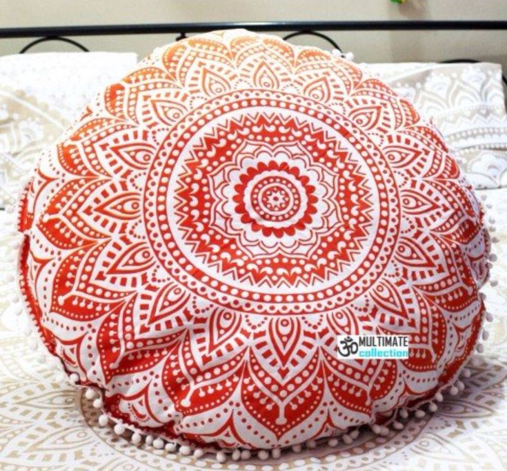 Bohemian Ombre Round Large Floor Pillows are a Hippie essential and Unique Handmade Gifts at affordable prices. This Oversized Throw Pillow can be carried to Picnic and Beach. Large Outdoor Pillows ar