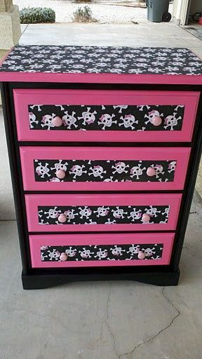 Redone Dresser To Fit A Monster High Theme Room!