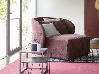 Sillón tapizado con funda extraíble CÉLINE | Sillón cama