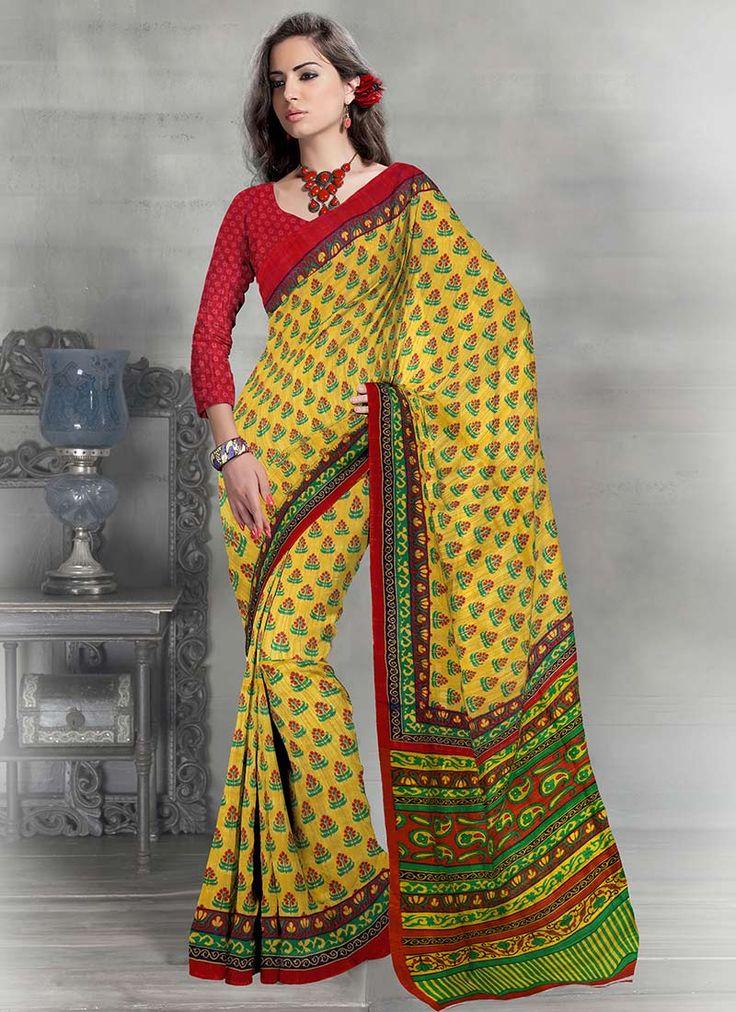 Royal Look printed Art Silk Saree