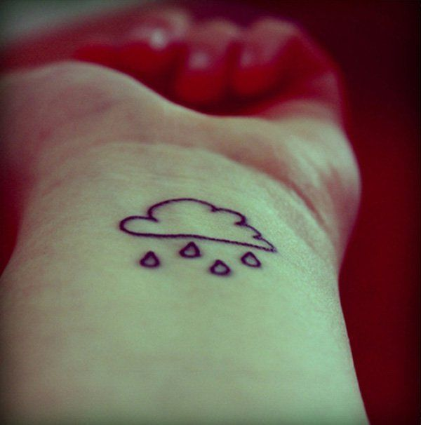 cute-cloud-tattoo - 40 Awesome Cloud Tattoo Designs | Art and Design