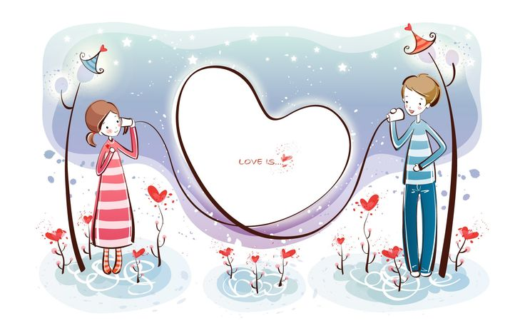 fondos de pantalla de dibujos animados de San Valentín (1) #1 - 1920x1200