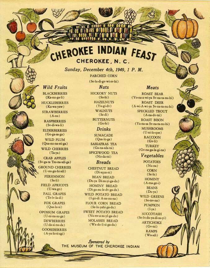 Cherokee Indian Feast