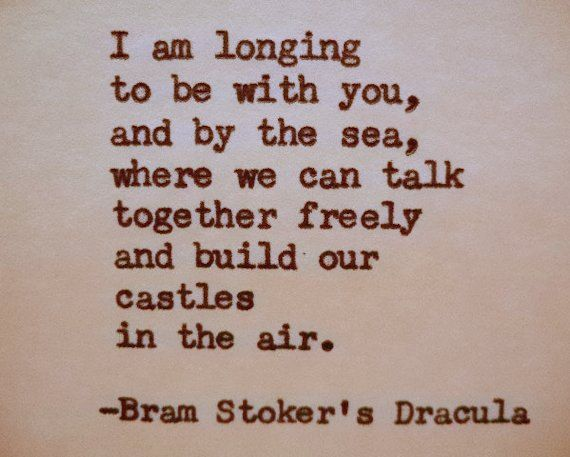 BRAM STOKER'S DRACULA Quote Typed on Typewriter by PoetryBoutique