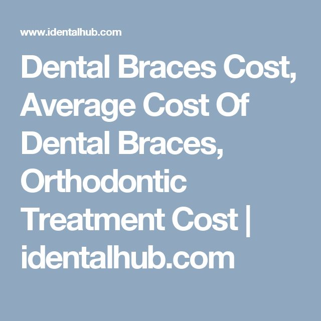 Dental Braces Cost, Average Cost Of Dental Braces, Orthodontic Treatment Cost  | identalhub.com