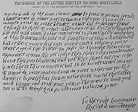 Copy of the 'anonymous' letter delivered to Lord Monteagle.