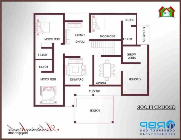 Indianhomes Luxury Indian Homes House Plans With Photos 1200 Sq Ft House Bedroom House Plans Small house plan kerala model