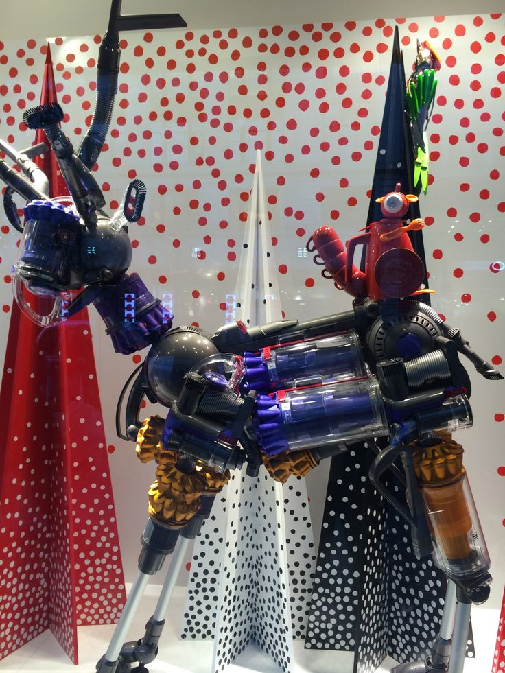 A very clever window display in John Lewis, Oxford Street. All made using Dysons.