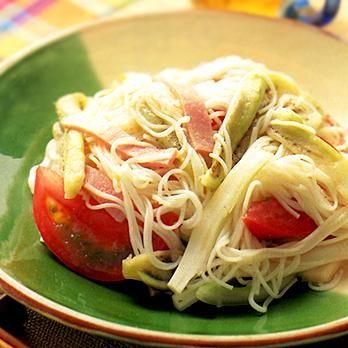 サラダそうめん   葛西麗子さんのサラダの料理レシピ   プロの簡単料理レシピはレタスクラブネット