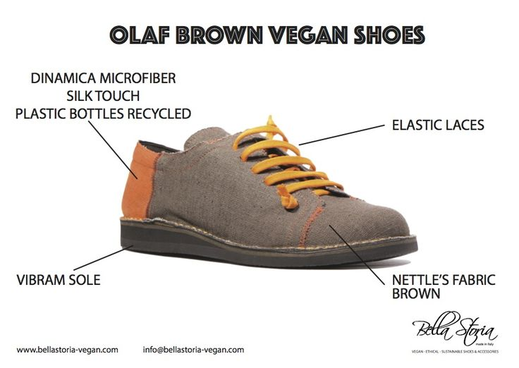 Olaf vegan sneaker shoes - nettle brown fabric and Dinamica microfibre plastic bottle recycled - vibram sole