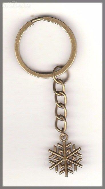 Christmas Snowflake Charm Bronze Keyring  by MadAboutIncense - $7.50