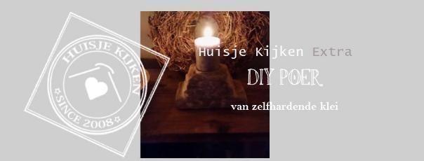 Huisje+Kijken+Extra DIY+Poer+van+zelfhardende+klei