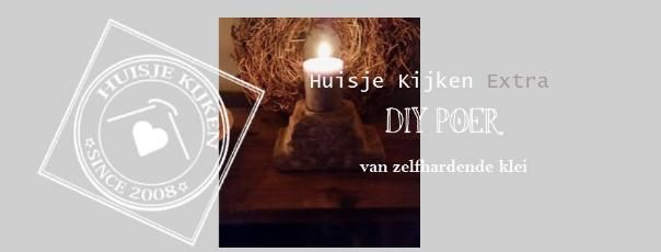Huisje+Kijken+Extra|DIY+Poer+van+zelfhardende+klei