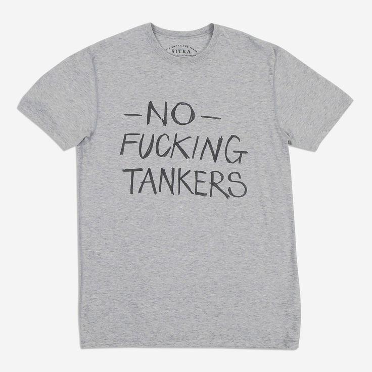 Organic No Fucking Tankers T-Shirt