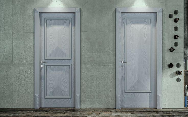 FBP porte | Collezione Vittoria: Mod. 2D e 1D - Frassino semicoprente azzurro- ash light blue semicovering. #porta #legno #madeinitaly #ottocentostyle #wooden #door