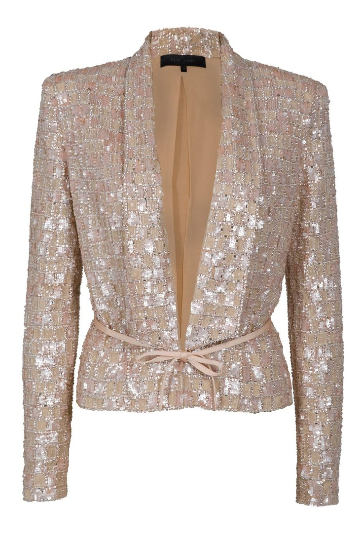 Sequin Blazer by ELIE SAABSequins Blazers, Shiny Things, Saab Sequins, Skinny Jeans, Ellie Will Be, My Heart, White Blouses, Elie Saab Jacket, Glitter Jacket
