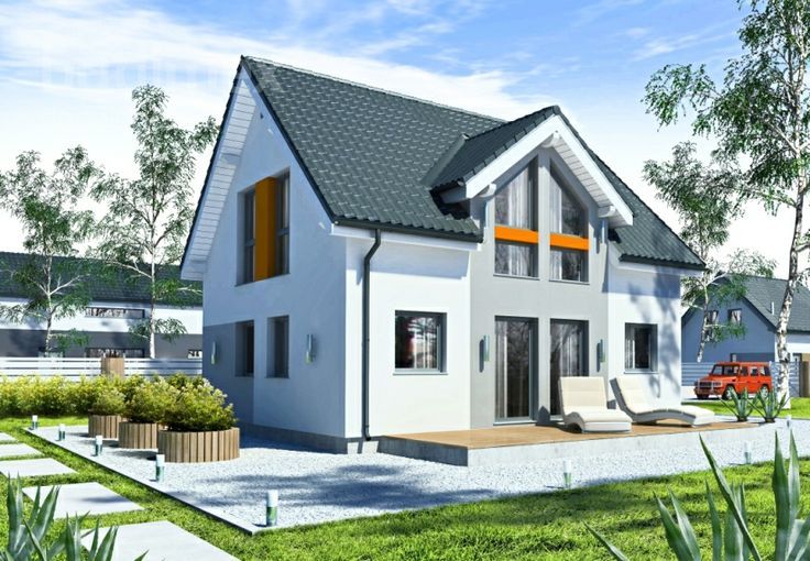 Eineinhalbgeschossige Häuser Point 106.12 || #houses #hauser || http://www.danwood.de/hauser/eineinhalbgeschossige/point-106-12