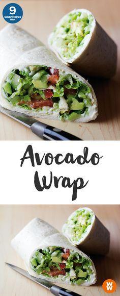 Avocado-Wrap mit Salsa | 2 Portionen, 9 SmartPoints/Portion, Weight Watchers, fertig in 10 min.