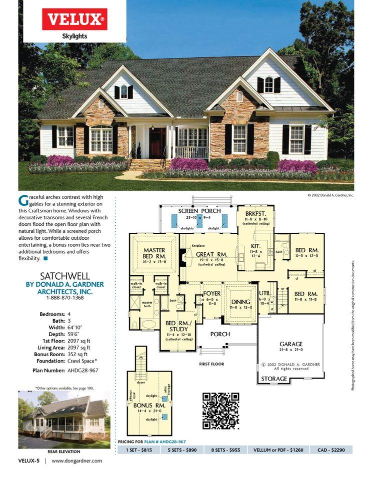 808 best House images on Pinterest | Home plans, House floor plans ...