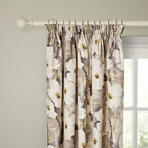 Buy Harlequin Giverney Lined Pencil Pleat Curtains, Yellow / Neutral Online at johnlewis.com