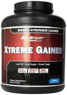 Bio-Sport USA Xtreme Gainer, Bigger Strong Leaner Mass Gainer, Vanilla, 6 Pound