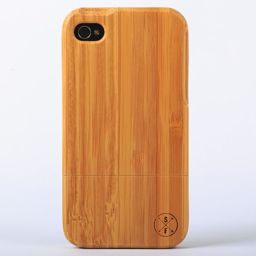 Bamboo Charleston Case - iPhone 4/4S -  Crafted from a solid piece of bamboo wood and sanded and polished by hand, this unique case offers protection from harmful elements and scratches. Plus, 20% of the sale goes to charity and 1 tree is planted per product sold!