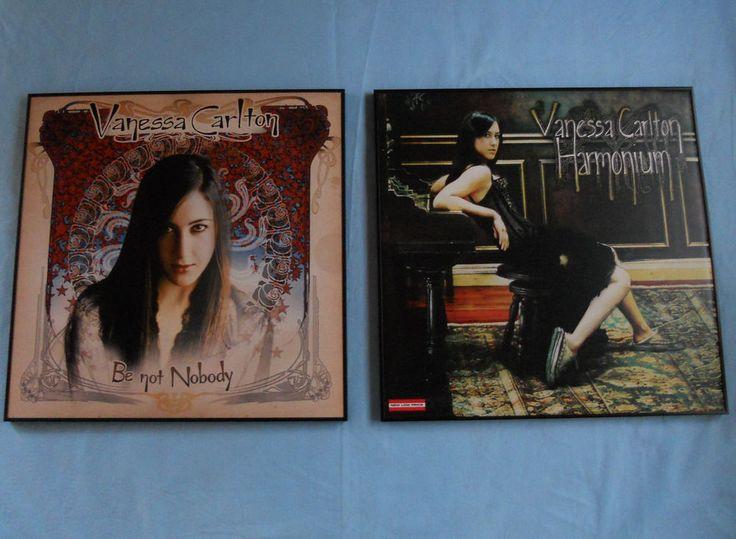 "Vanessa Carlton Framed Posters Be Not Nobody Harmonium 24"" x 24"" Set of Two #VanessaCarlton"