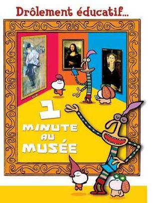 """Vidéos et ressources de la série """"1 minute au musée"""". En 60 secondes chrono, trois petits personnages animés à la langue bien pendue décryptent une oeuvre d'art. Ils commentent à leur manière des oeuvres réelles exposées dans différents musées, notamment le Louvre et le musée d'Orsay, exhortant ainsi le jeune public à se forger son propre avis."""