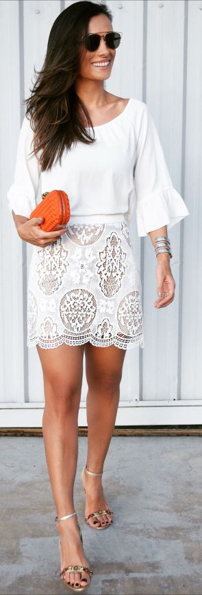 Maria Sophia All White Skunk Outfit Idea SHOP @ CollectiveStyles.com