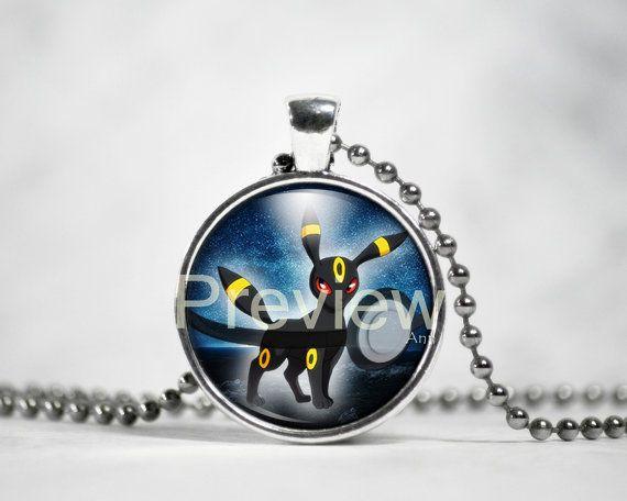 Umbreon Pendant Pokemon Eevee evolution Pokemon by PokemonyByAnn