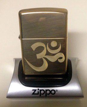 Zippo Custom Lighter - Aum Om Zen Hindu Religious Symbol High Polish Brass RARE! by Zippo. $37.95