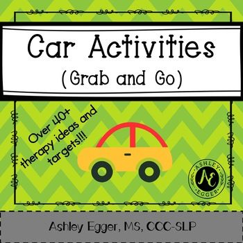 Car Activities- Grab and Go