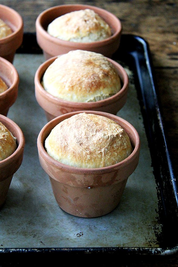 About a month ago, a friend texted me a photo of an adorable loaf of bread baked in a flowerpot. She was at Terrain's garden café in Westport, CT, which looks as magical as the pages of its catalog. I immediately picked up half a dozen small flowerpots from a local garden shop and gavethe...