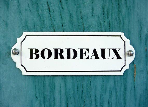 Plaque émaillée Bordeaux french vintage plaque par sofrenchvintage