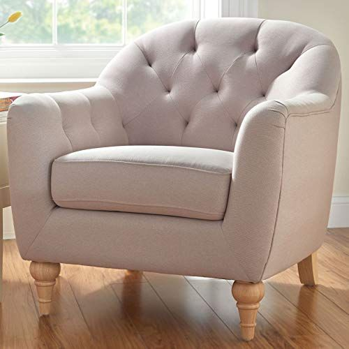 Phenomenal Brylanehome Mae Extra Wide Tufted Occasional Chair Beret 4 Pabps2019 Chair Design Images Pabps2019Com
