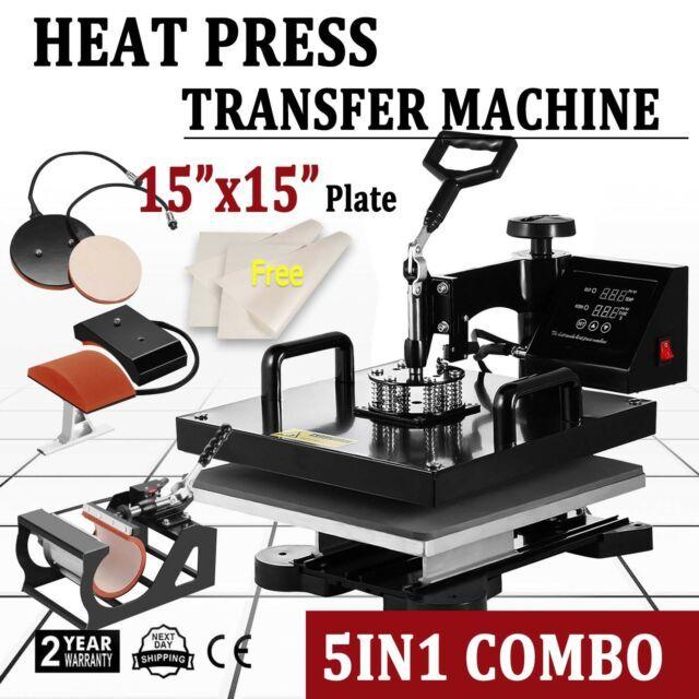 Buy 5 in 1 Heat Press Machine for T-shirt Combo Kit ...