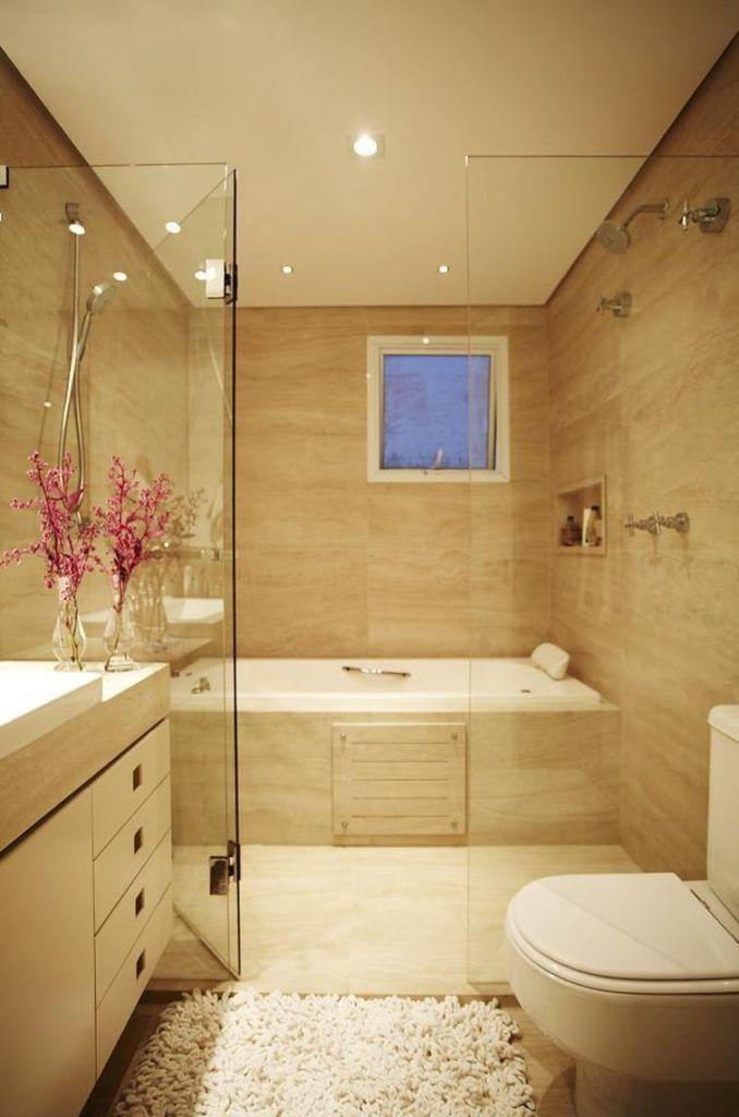 25+ melhores ideias sobre Banheiro no Pinterest  Banheiros modernos, Projeto -> Banheiro Pequeno Com Hidro E Chuveiro