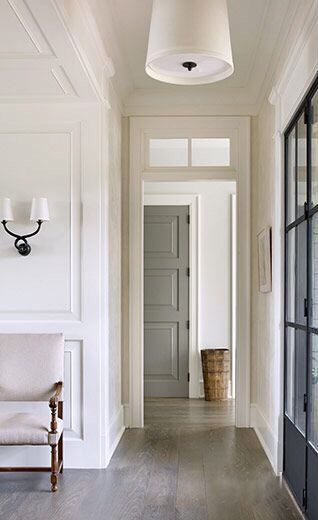 Love the look of medium grey color door in white pallet.