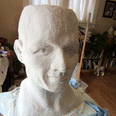 Paper Mache Head - the first video, when I explain what I'm doing, and why.