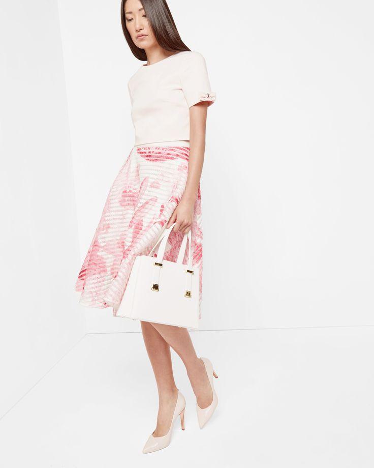 Tonal Encyclopaedia mesh full skirt - Pink   Outlet   Ted Baker UK