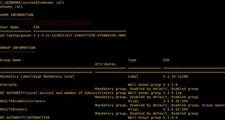 Manual Post Exploitation on Windows PC (System Command)