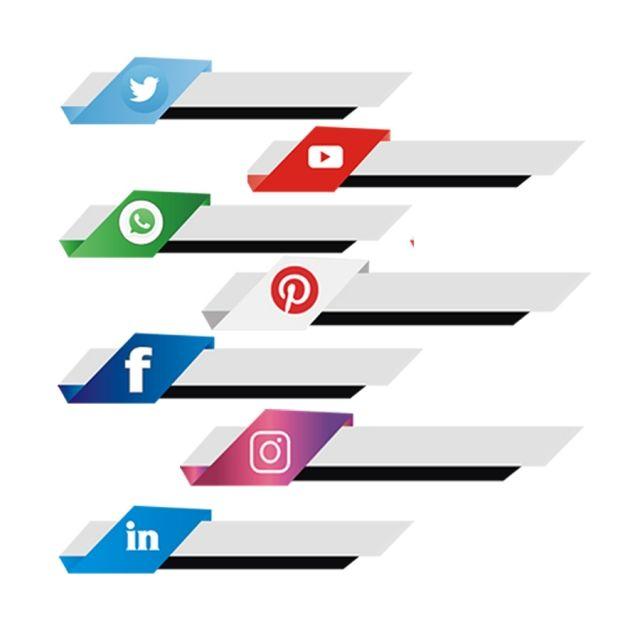 Social Media Button Template Facebook Social Media Png And
