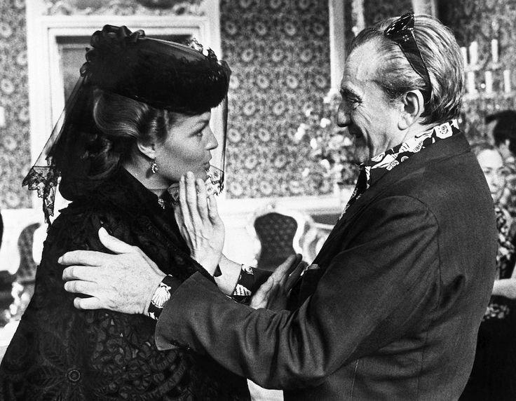 """1972. Luchino Visconti and Romy Schneider - """"Ludwig"""" (AP Photo)"""
