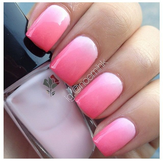 Ombre Nails...I have to try this! Maybe on @Janet Longoria this weekend!!??