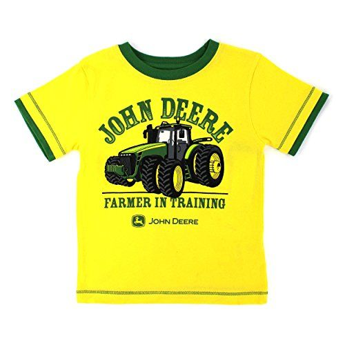 John Deere Boys Farmer in Training Tee YellowGreen 18 Months