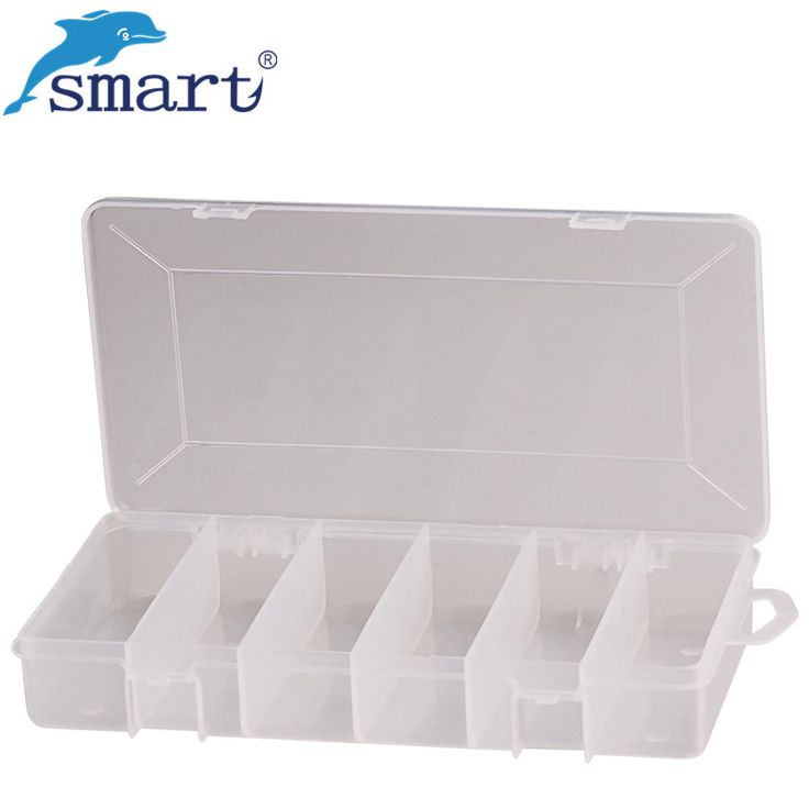 Smart Plastic Fishing Box 20.7*11*3.3cm 6 Compartments Waterproof Fishing Boxes Peche Accessories Boxes Fly Fishing Lure Boxes #Affiliate