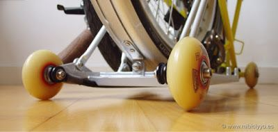 Inline roller skates wheels Bompton folding bike