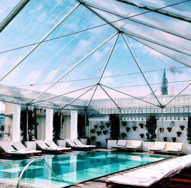The Mondrian Los Angeles Rooftop Swimming Pool Hotels Resorts Pinterest The O 39 Jays