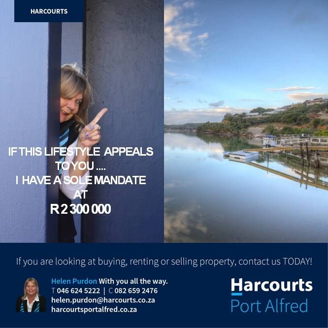 SOLE MANDATE - Call Helen to find out more #Harcourts #PortAlfred #WhereServiceCounts #SoleMandate #WhereServiceCounts #PropertiesForSaleInPortAlfred